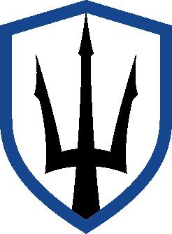 TS-Bug-Blue and Black-Transparent Background