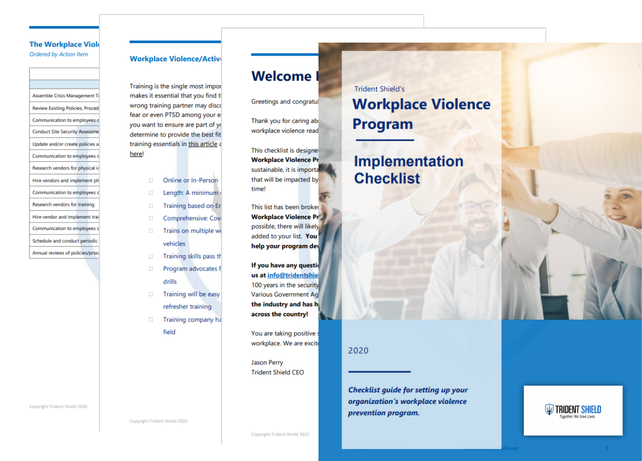 Workplace Violence Prevention Checklist - Pages - Transparent Background